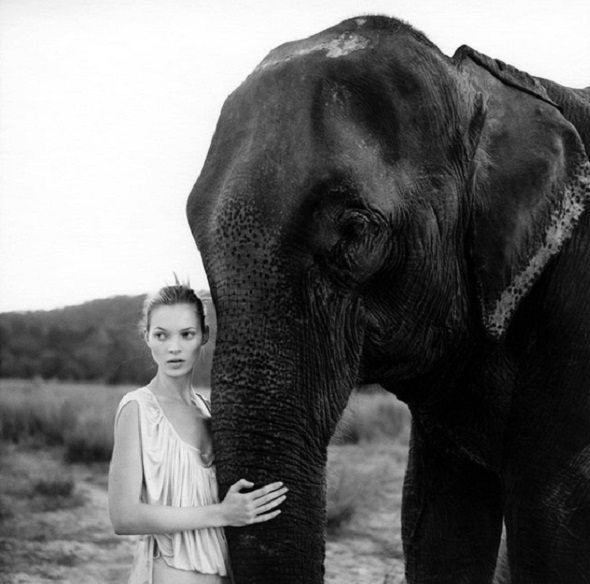 Kate Moss By Arthur Elgort Vogue Uk March 1994